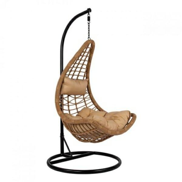 Висяща градинска люлка с възглавнички Сантяго - вариант 2
