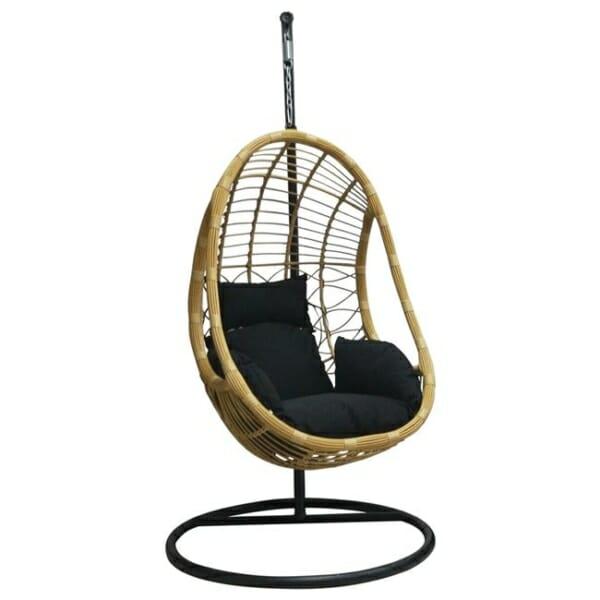 Висящо кресло за градина или балкон тип яйце - отстрани