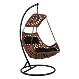 Висящо градинско кресло в кафяво и черно