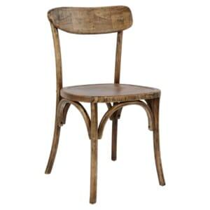 Дървен стол с ретро ефект