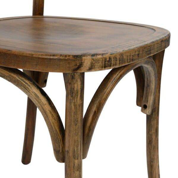 Дървен стол с ретро ефект-детайли
