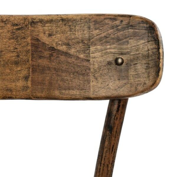 Дървен стол с ретро ефект-детайли облегалка