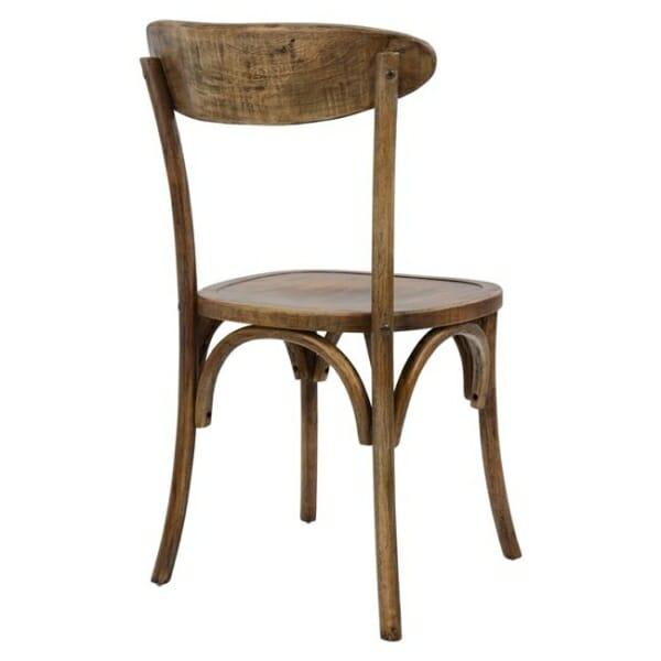 Дървен стол с ретро ефект отзад