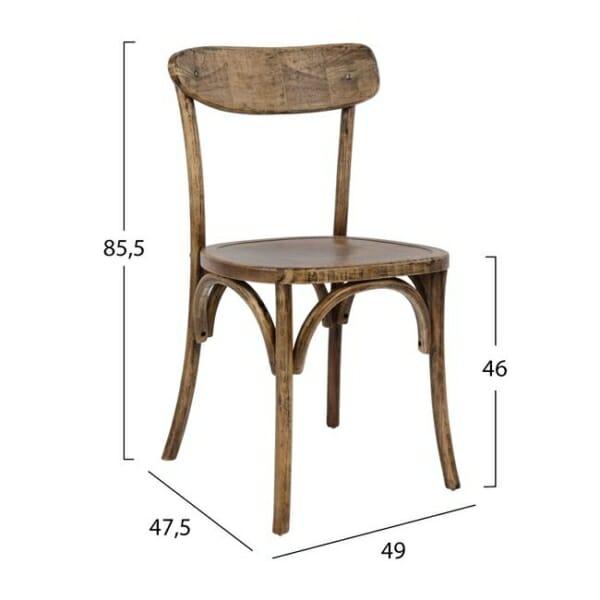 Дървен стол с ретро ефект размери