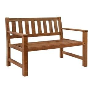 Дървена градинска пейка 2-местна