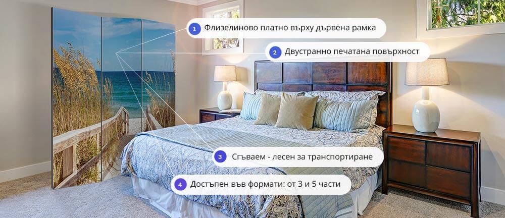 Характеристики на паравани за стая от GRANDecor