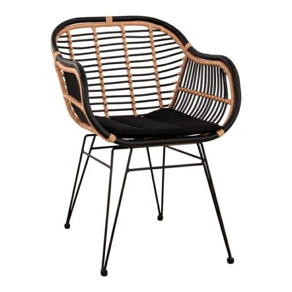 Градински ратанов стол с подлакътници