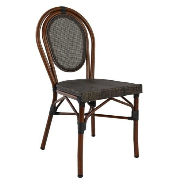 Градински стол серия Бамбук в кафяво