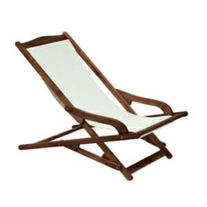 Градински стол-шезлонг от дърво с подлакътници
