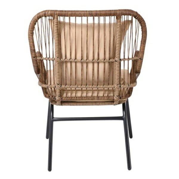 Градинско кресло от ратан с възглавнички Варадеро - отзад