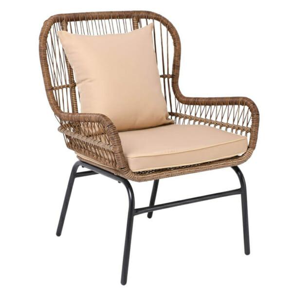 Градинско кресло от ратан с възглавнички Варадеро