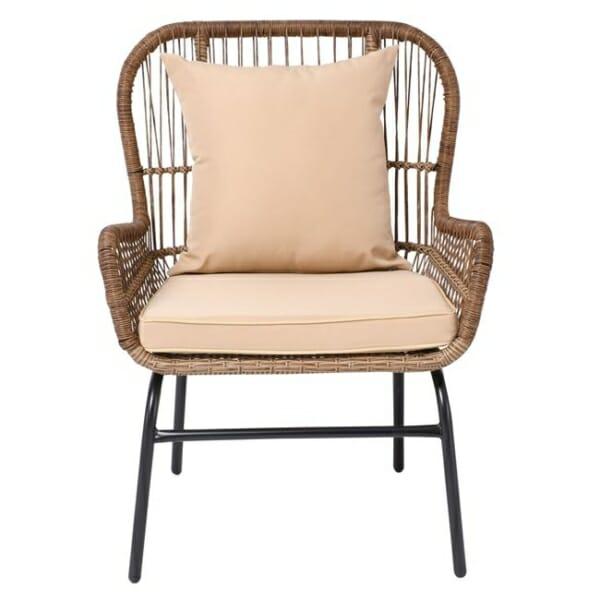 Градинско кресло от ратан с възглавнички Варадеро - изглед отпред