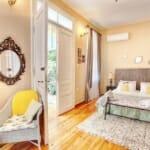 Guest House Sahat Tepe -спалня в романтична спалня с тераса