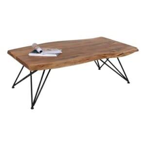 Холна маса с дървен плот от акация в натурален цвят