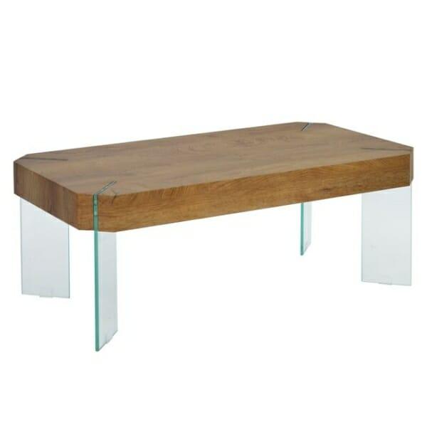 Холна маса със стъклени крачета и модерна визия Вая