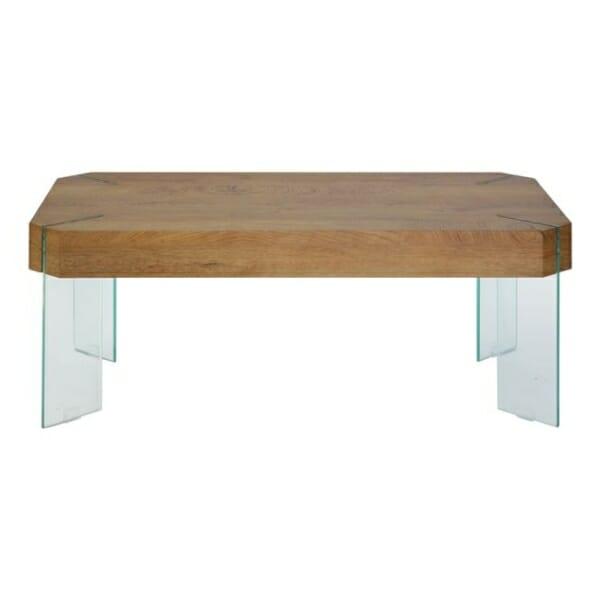 Холна маса със стъклени крачета и модерна визия Вая - изглед отпред