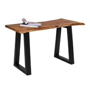 Конзолна маса с метални крака и дървен плот серия Антар