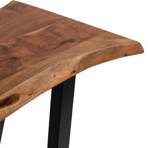 Конзолна маса с метални крака и дървен плот серия Антар детайли-плот