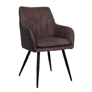 Кресло от метал и набук Келани