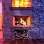 Luxury Chalet & Spa Tia Maria - камина