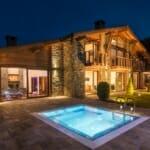 Luxury Chalet & Spa Tia Maria - нощна гледка