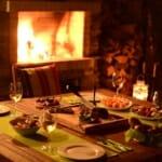 Luxury Chalet & Spa Tia Maria - вечеря край камината