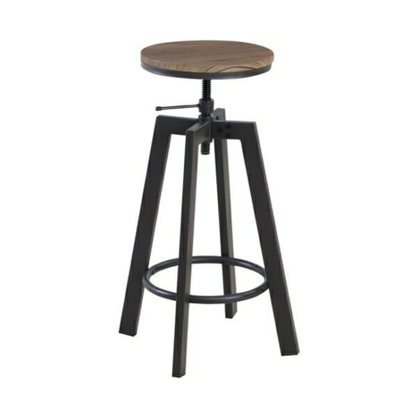 Метален бар-стол в индустриален стил серия Рони