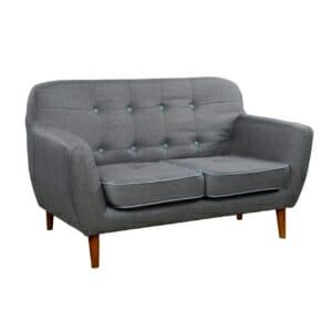 Модерен двуместен диван в сив цвят серия Карин