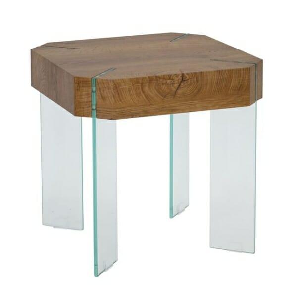 Модерна помощна маса със стъклени крачета серия Вая