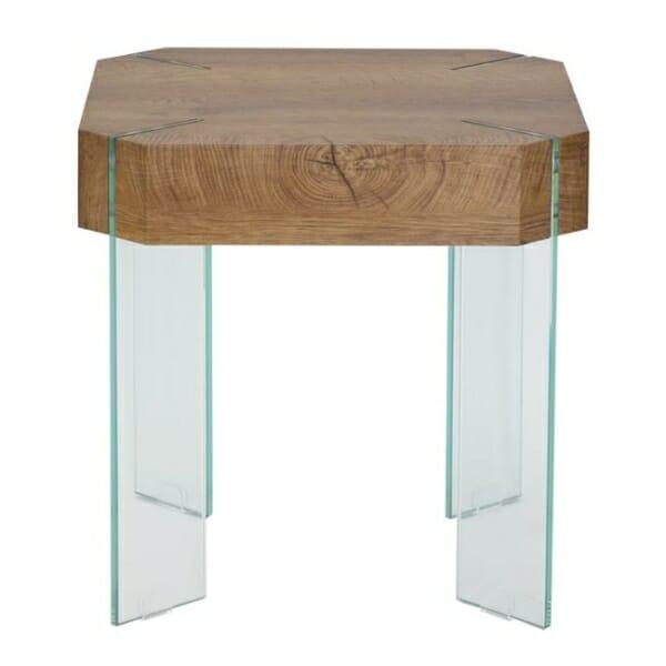 Модерна помощна маса със стъклени крачета серия Вая - изглед отпред