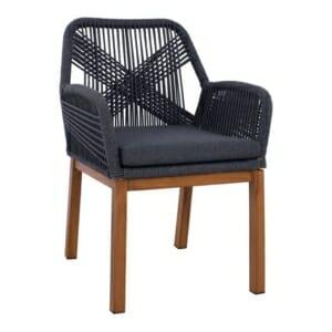Модерно градинско кресло серия Масара в сиво