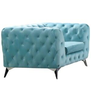 Модерно кресло в синьо кадифе серия Модена I
