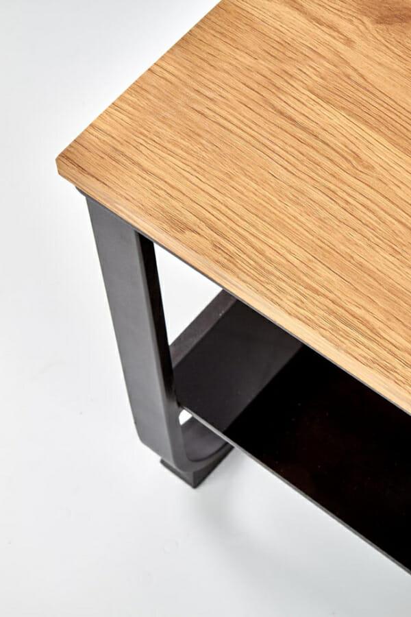 Правоъгълна холна маса с рафт и метална основа - детайл основа