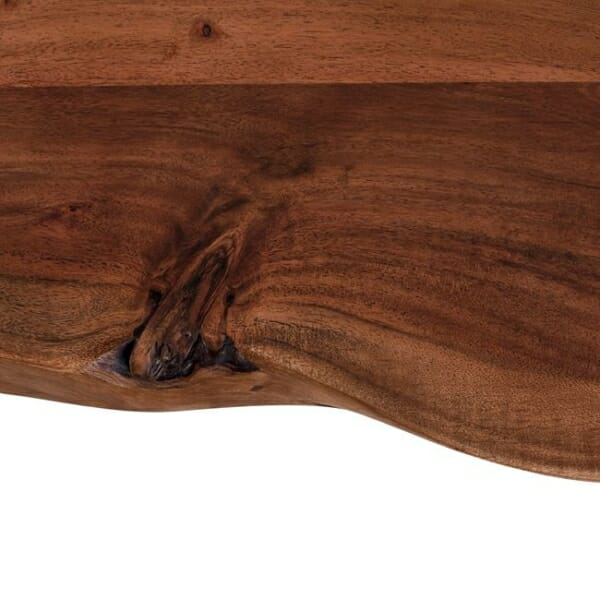 Ръчно изработена пейка от акациево дърво детайли