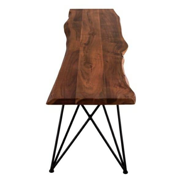 Ръчно изработена пейка от акациево дърво-метална основа