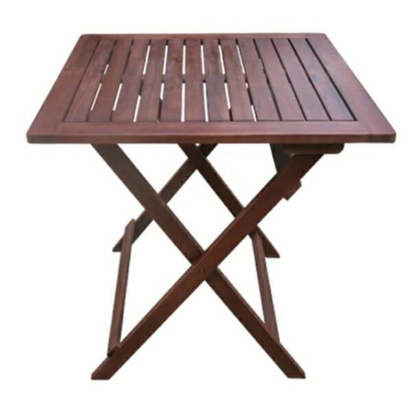 Сгъваема дървена маса с квадратен плот Стори - малък размер
