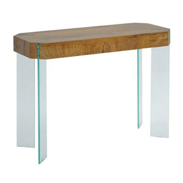 Стилна конзолна маса със стъклена основа серия Вая