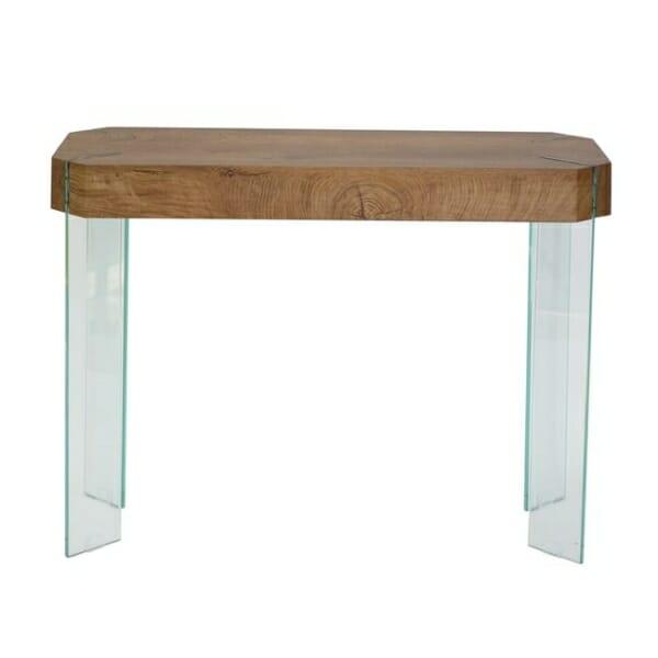 Стилна конзолна маса със стъклена основа серия Вая - изглед отпред