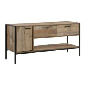 ТВ шкаф с рафт, 2 чекмеджета и вратичка серия Пако