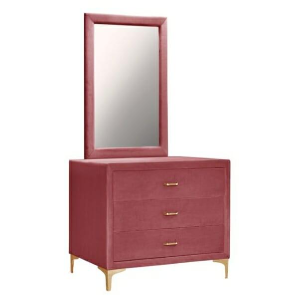 Тоалетка с огледало серия Лара - розово