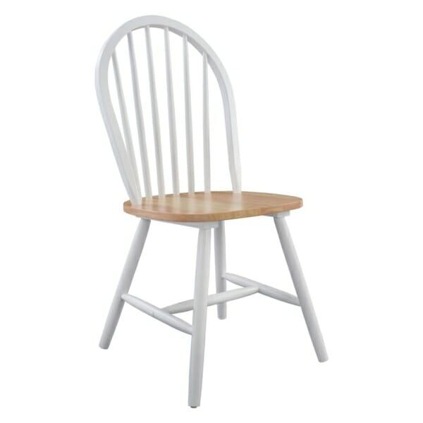 Трапезен дървен стол в бяло