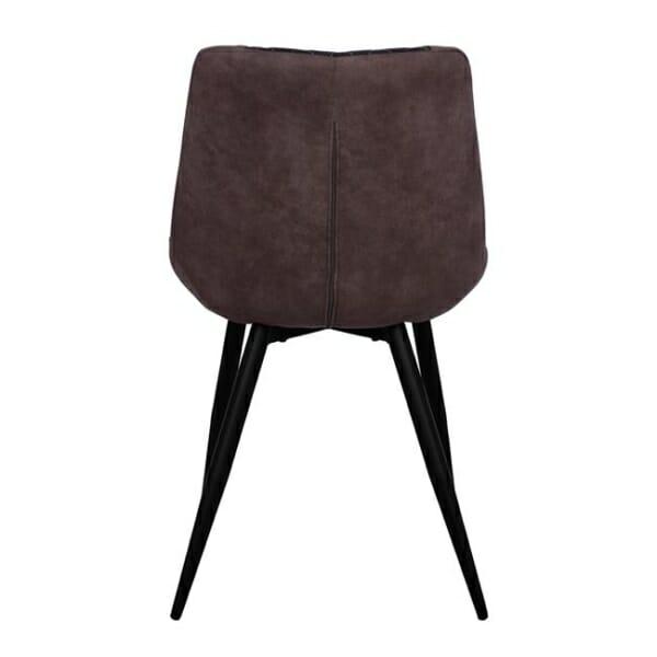 Трапезен стол от метал и набук Келани гръб