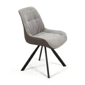 Трапезен стол с дамаска от еко кожа и текстил