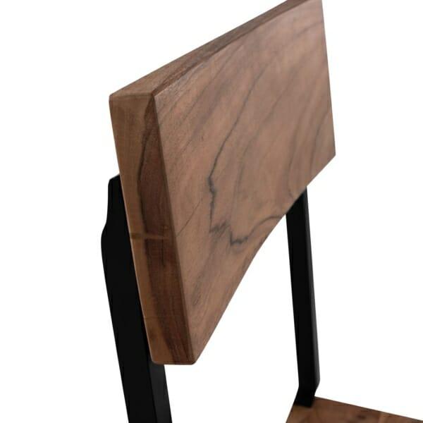 Трапезен стол в индустриален стил серия Антар детайли-облегалка