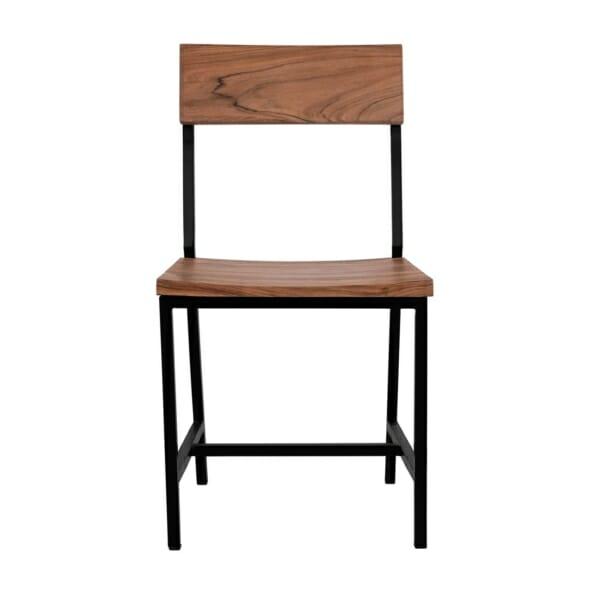 Трапезен стол в индустриален стил серия Антар отпред