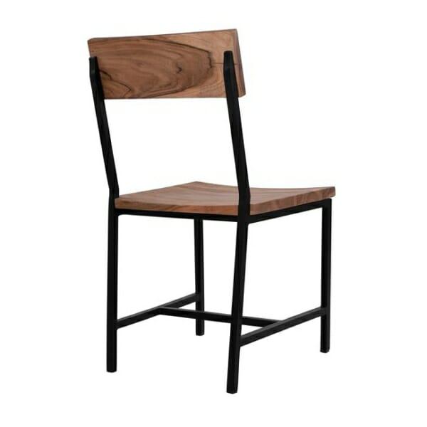 Трапезен стол в индустриален стил серия Антар отзад