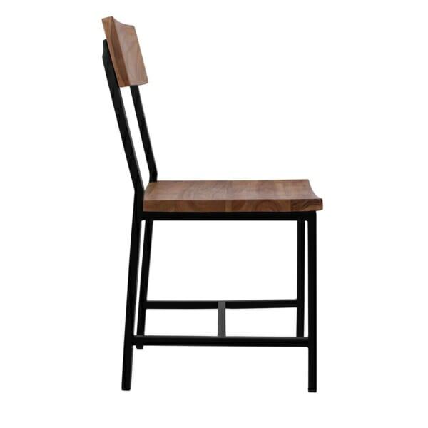 Трапезен стол в индустриален стил серия Антар странично