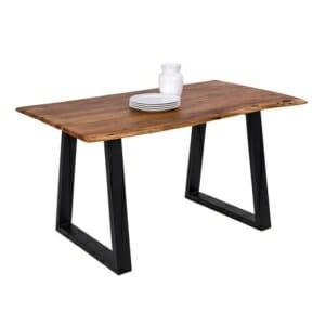 Трапезна маса с дървен плот от акация серия Антар