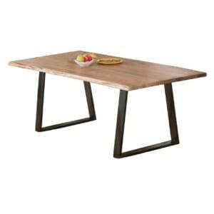 Трапезна маса с плот от масив серия Данте - размер 1
