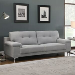 Триместен диван с модерна визия Ноел - светлосив цвят